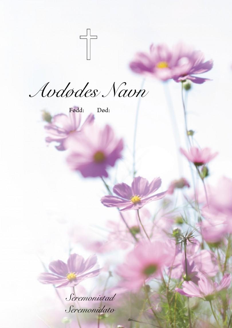 4066 Rosa blomster